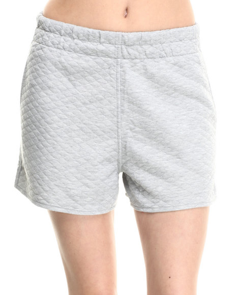 Motel - Women Light Grey Marine Quilted Short
