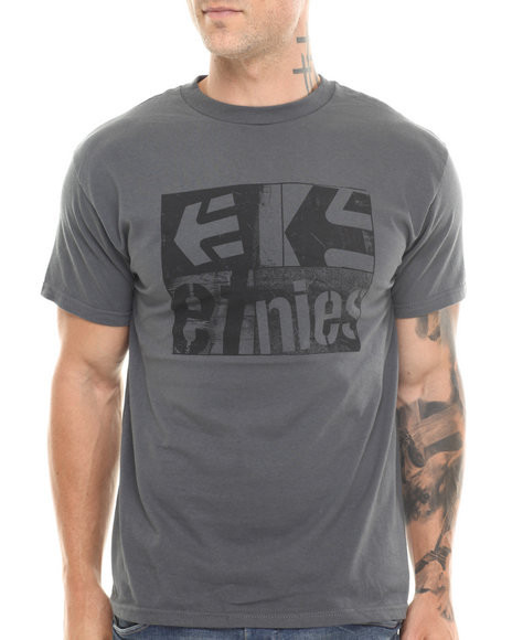 Etnies - Men Grey Quota Tee - $10.99