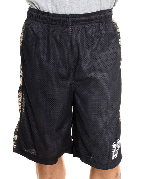 Waimea - Men Black Croc Mesh Shorts