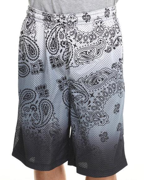 Waimea - Men Black,Silver Bandana Dip Mesh Shorts