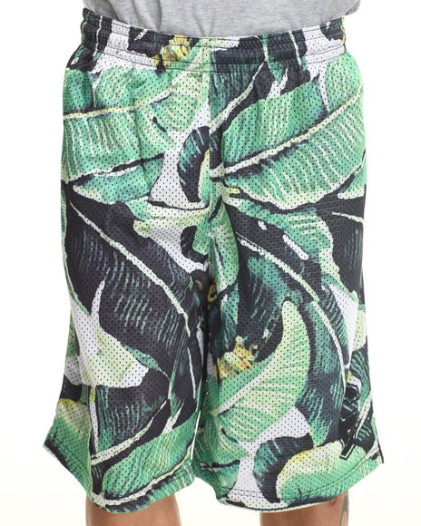 Waimea Green Banana Leaf Mesh Shorts