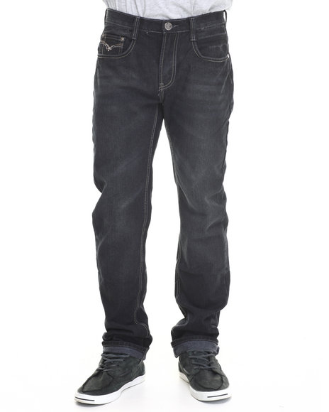 Basic Essentials - Men Black Multi - Stitch Flap - Pocket Denim Jeans