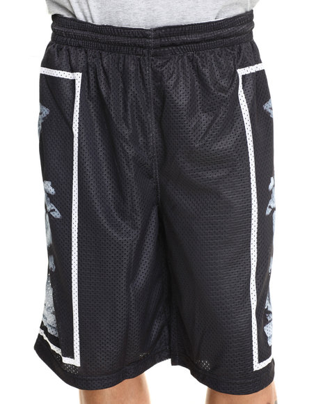 Waimea Black Sculpture Mesh Shorts