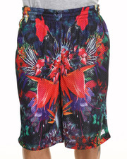 Buyers Picks - Exotic Floral Mesh Shorts