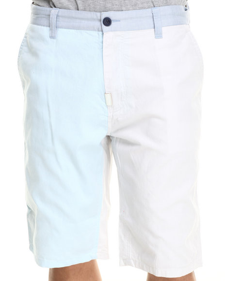 LRG - Men Grey, Light Blue, White Beach Baller True - Straight Walk Shorts