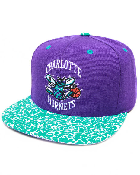 Mitchell & Ness Men Charlotte Hornets Speckled Snapback Hat Teal