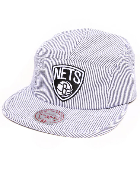 Mitchell & Ness - Brooklyn Nets Seersucker 5 Panel Hat