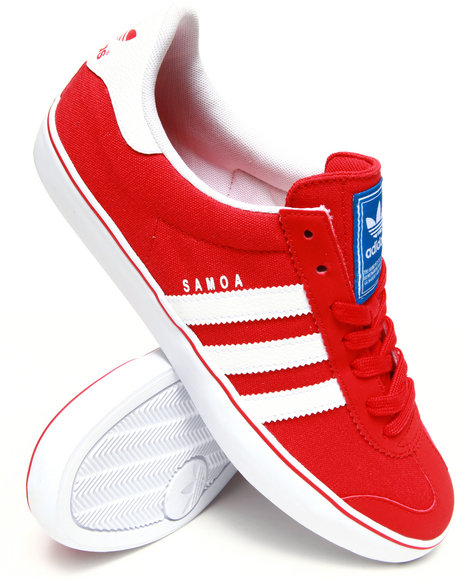 Adidas - Men Red Samoa Vulc Sneakers