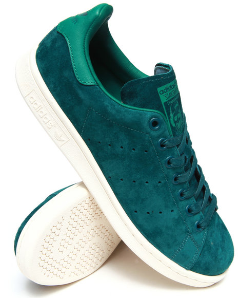 Adidas Green Stan Smith Suede Sneakers