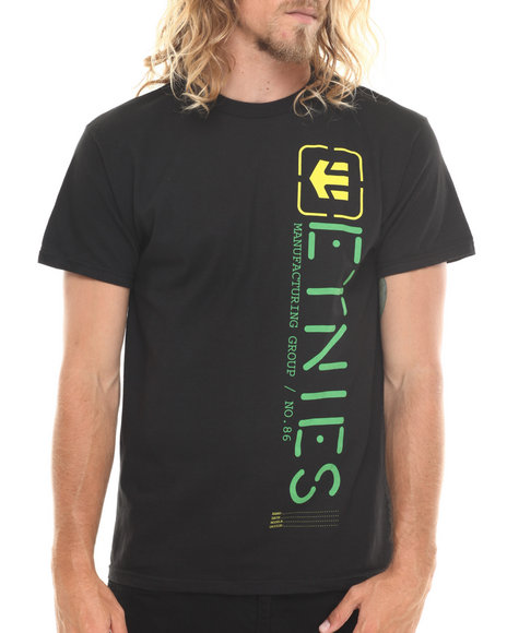 Etnies - Men Black Obelisk Tee - $10.99