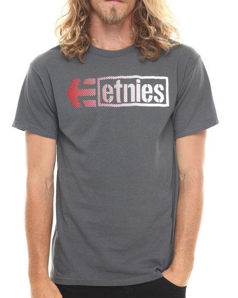Etnies - Men Grey Stencil Box Tee - $8.99
