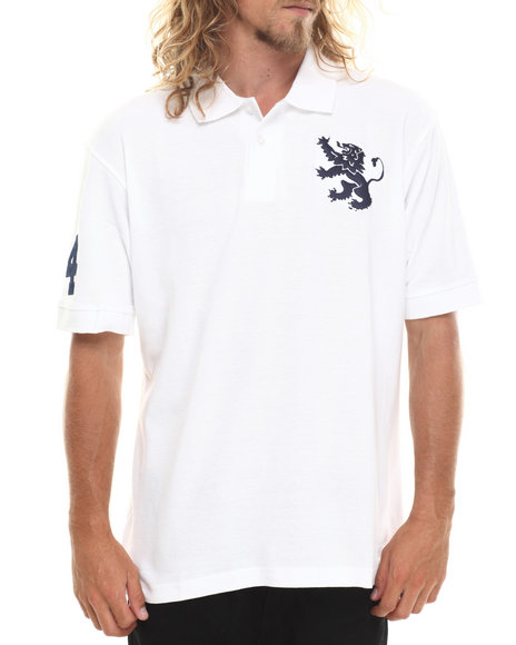 Buyers Picks - Men Navy Lion Crest S/S Polo