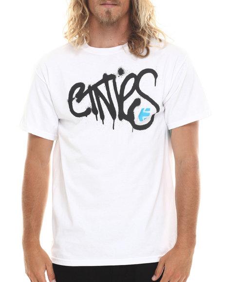 Etnies - Men White Sprayed Tee - $16.99