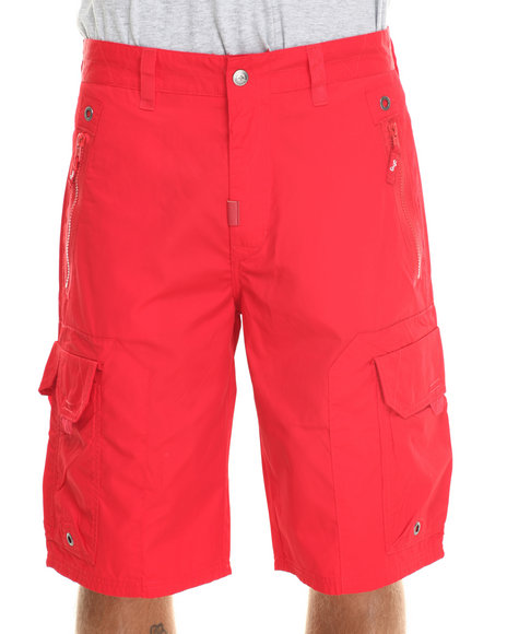 LRG - Men Red Wordplay Classic Cargo Walk Shorts