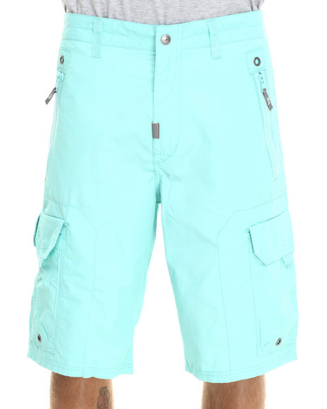 LRG - Men Green Wordplay Classic Cargo Walk Shorts