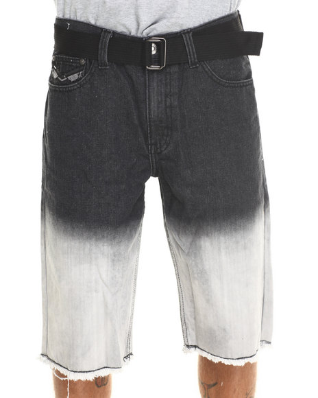 Basic Essentials - Men Black Dip - Dye Denim Shorts