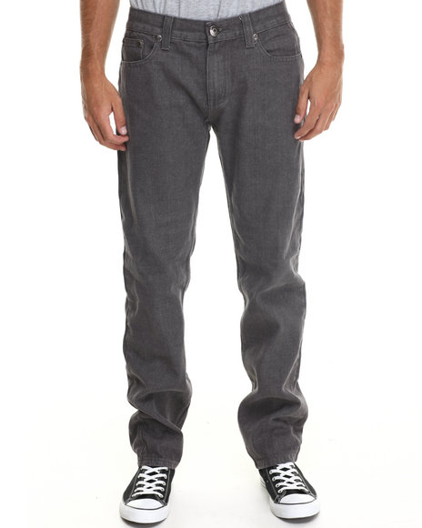 Basic Essentials - Men Charcoal Valley Colored Bull - Denim Jeans
