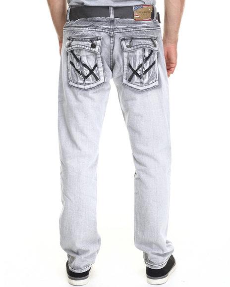 Basic Essentials - Belt Snap - Pocket Denim Jeans