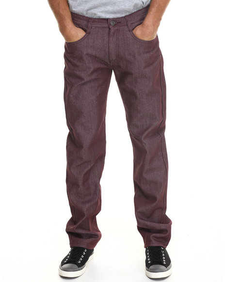 Basic Essentials - Men Maroon G S N S Colored Denim Jeans