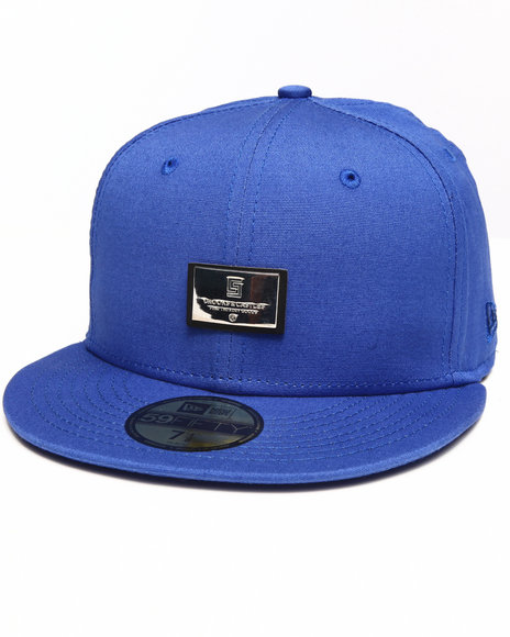 Crooks & Castles Blue Thuxury Logo Badge Fitted Cap