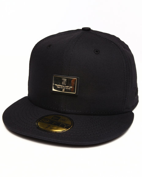 Crooks & Castles Black Thuxury Logo Badge Fitted Cap