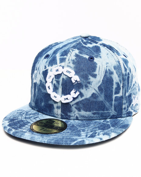 Crooks & Castles Blue Trippy Chain C Fitted Cap