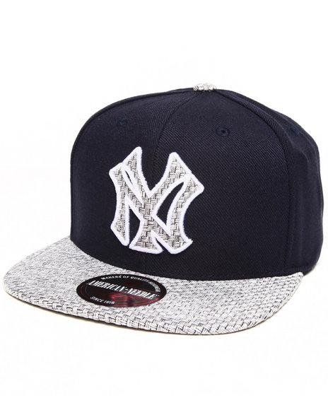 American Needle Men New York Yankees Hatch Strapback Hat Navy