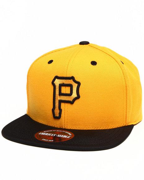 American Needle Pittsburgh Pirates Three Timer Ballistic Strapback Yellow