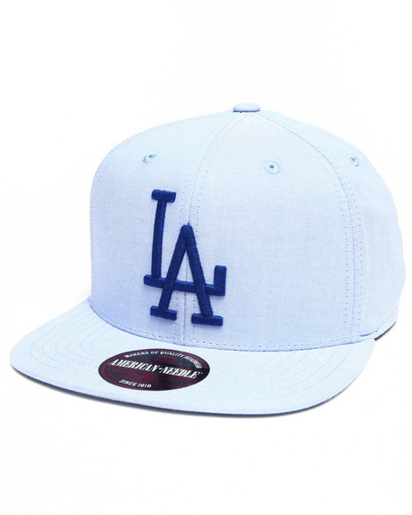 American Needle Men Los Angeles Dodgers The Sound Strapback Hat Blue