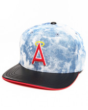 Men - California Angels Fury Acid Wash Strapback hat