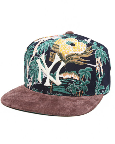 American Needle Men New York Yankee Suede Strapback Hat Multi