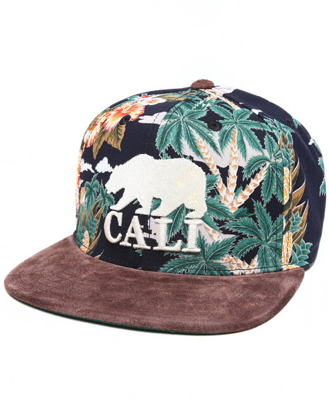 American Needle Men Cali Haven Suede Strapback Hat Multi