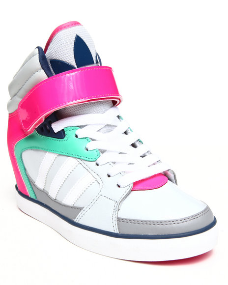 Adidas Grey Amberlight Up Wedge Sneakers