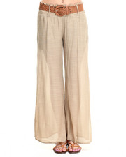 Women - Belted Soft Wideleg Pant