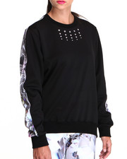 Women - KEENKEEE 20 Crystal Sweatshirt w/ Crystal Print Back Panel