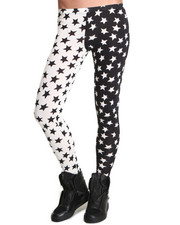 Women - See You Monday Contrast Star Leggings