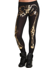 Leggings - See You Monday Gold Foil X-Ray Leggings
