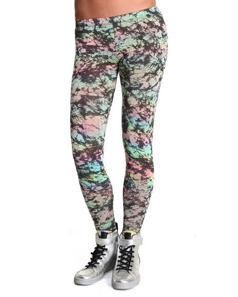 Djp Outlet - Women Multi See You Monday Pastel Acid Print Leggings