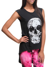 Tanks, Tubes & Camis - See You Monday Sequins Skull Top