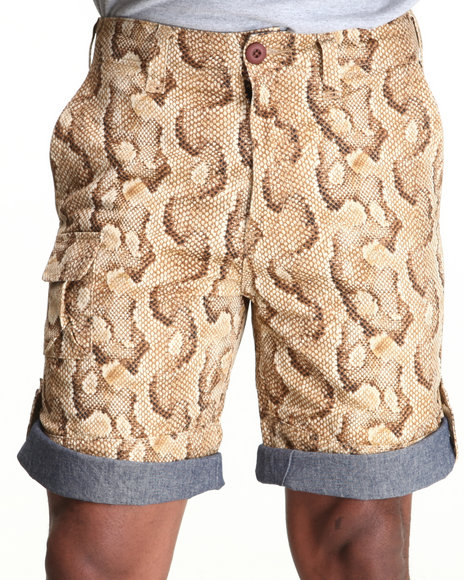 10 Deep - Men Animal Print 10 Deep Convertible Snake Print Field Short