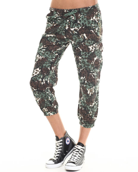 Stussy - Women Olive Cheetah Camo Pants