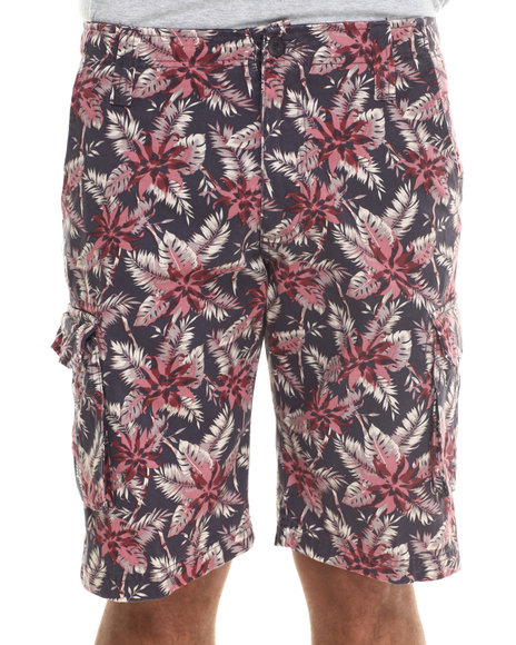 Waimea Dark Purple Wilderness Cargo Shorts