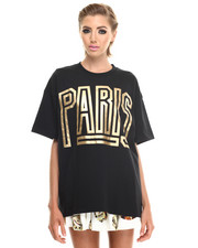 Tops - Gold Paris Big Tee