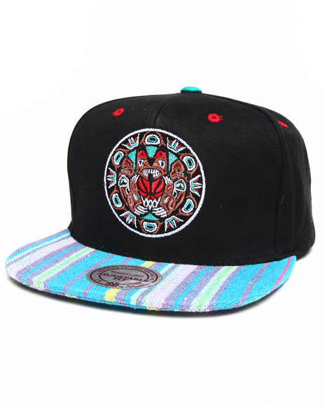 Mitchell & Ness - Vancouver Grizzlies Native Stripe 2 Tone Canvas Snapback Hat