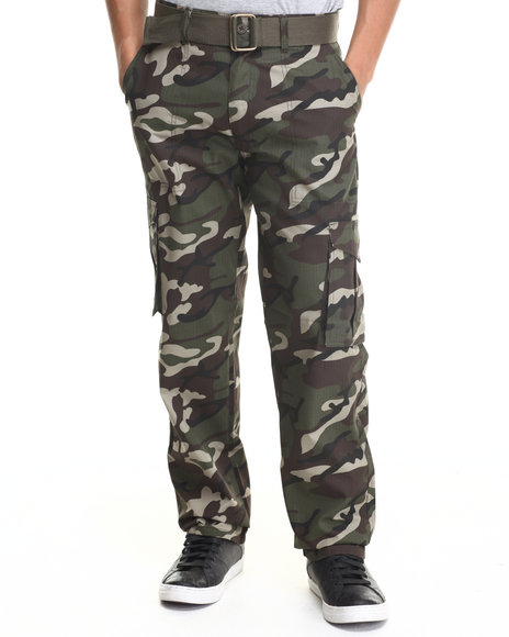Basic Essentials Camo,Green Pants