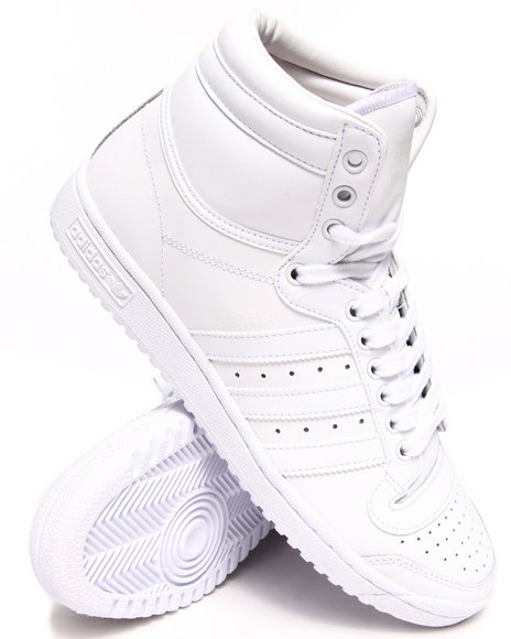 Adidas White Top Ten Hi Sneakers