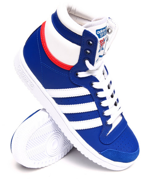 Adidas - Boys Blue Top Ten Hi J Sneakers (3.5-7)