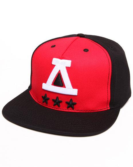 Asphalt Yacht Club Tri Star Snapback Cap Black