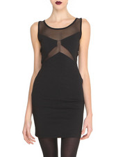 Dresses - Mesh Insert Dress