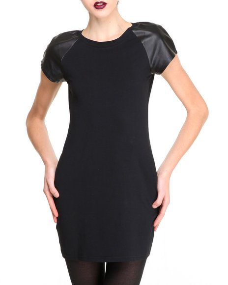 Glamorous - Women Black Cap Sleeve Dress - $14.99